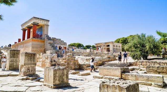 Knossos op Kreta