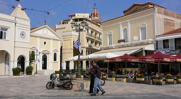 Wandelen op Zakynthos - San Marco plein