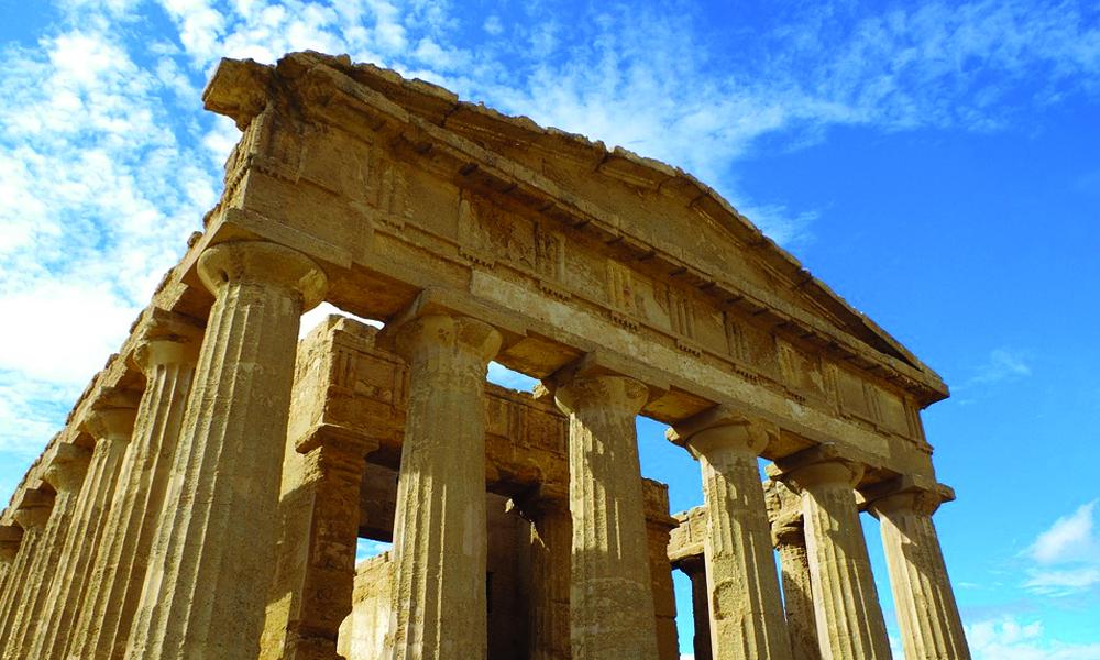 foto van het hele eiland sicilie