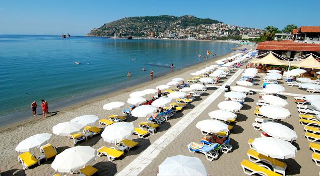 Strand bij het Panorama Hotel