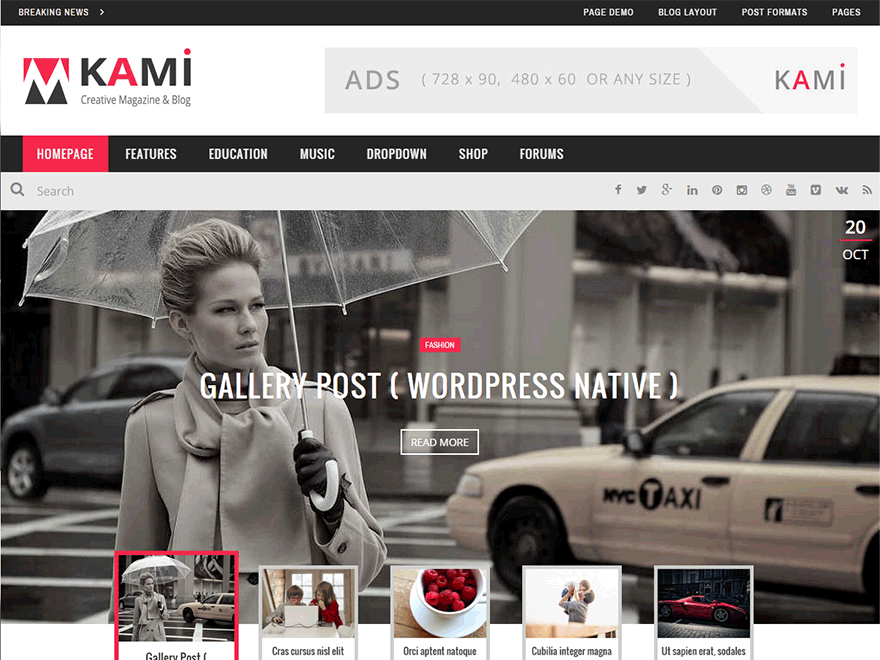 KAMI - Creative Magazine and Blog