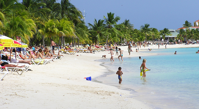 Mooiste stranden Curaçao - Mambo Beach