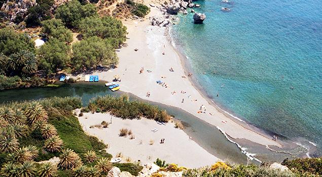 Bezienswaardigheden Kreta: Preveli Beach