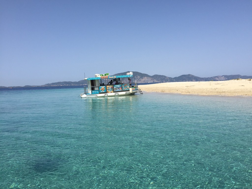 Barboot bij Marathonisi eiland 1