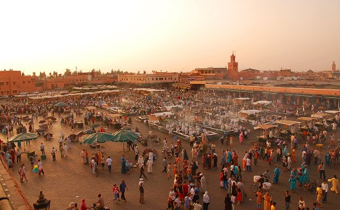 Djemaa el Fna plein in Marrakech