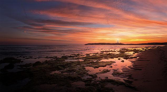 Zonsondergang bij Costa de la Luz
