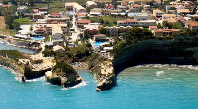 Strand bij Sidari op Corfu
