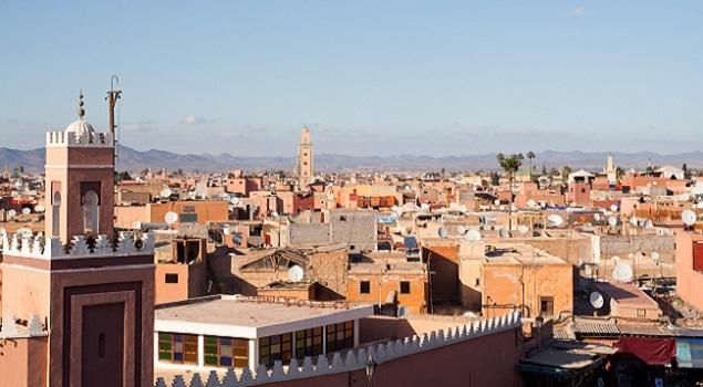 Marrakech - zon in februari