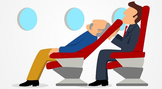 slapen vliegtuig