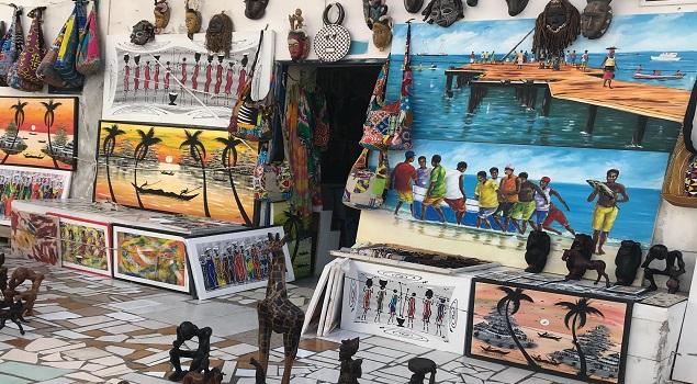 Souvenirwinkeltje in Santa Maria op Sal