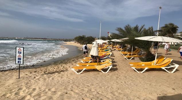 Strand in Santa Maria op Sal