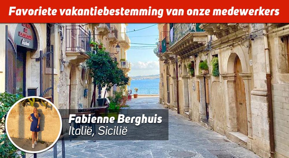 Fabienne op Sicilië