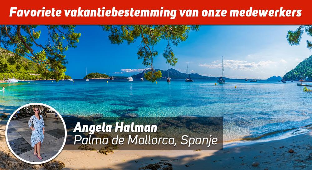 Angela Halman op Mallorca